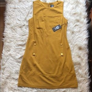 Vince Camuto NWT mustard yellow sleeveless dress
